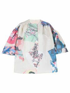 Roksanda watercolour print jacket - Neutrals