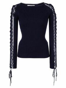 Jonathan Simkhai crochet sleeve jumper - Black