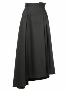 Brunello Cucinelli high-waisted asymmetric skirt - Grey