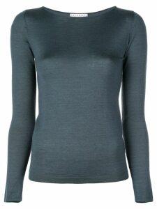 Brunello Cucinelli slim-fit knit T-shirt - Blue