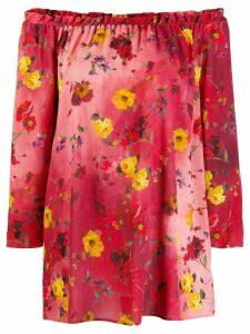 Blumarine floral kaftan - Red