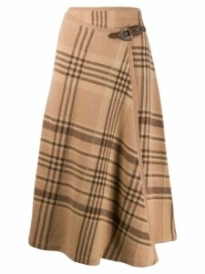 Ralph Lauren Collection plaid midi skirt - Brown