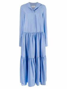 Christian Wijnants tired maxi dress - Blue