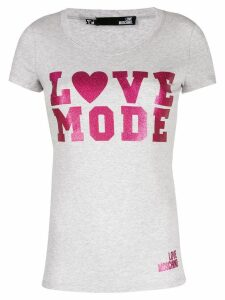 Love Moschino Love Mode T-shirt - Grey
