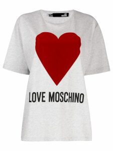 Love Moschino heart print T-shirt - Grey