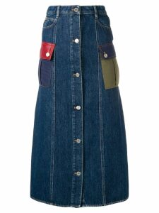 Sonia Rykiel denim midi skirt - Blue