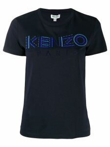 Kenzo logo embroidered T-shirt - Blue