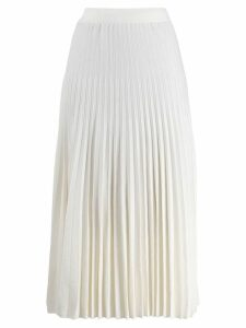 Agnona pleated midi skirt - White