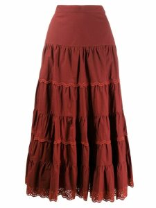 Ulla Johnson embroidered flared skirt