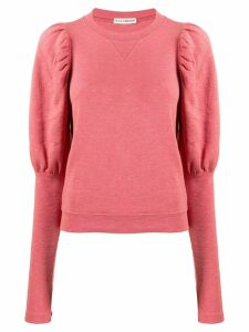 Ulla Johnson puff-sleeve sweater - Pink