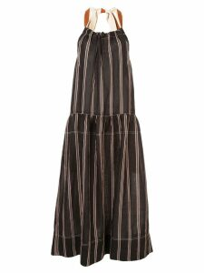 Lee Mathews striped midaxi dress - Black