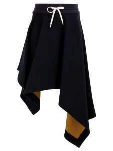 Monse napkin-hem contrast skirt - Blue