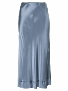 Lee Mathews satin midi skirt - Blue