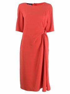 Giorgio Armani short-sleeve flared dress - Orange