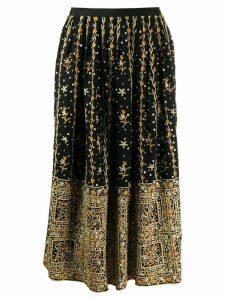 Ulla Johnson floral embroidered skirt - Black