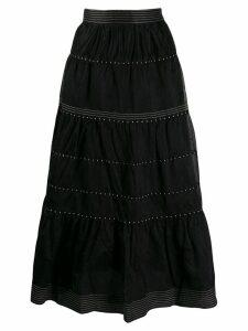Ulla Johnson embroidered skirt - Black