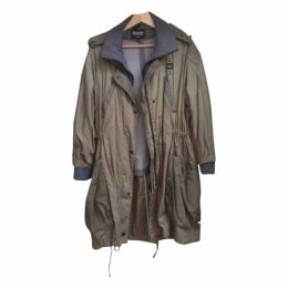 Khaki Viscose Coat