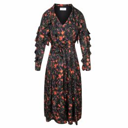Libelula - Long Willow Dress Tropical Printed Silk