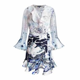 VEERO - Scales Clutch in Fuchsia Citron & Gold