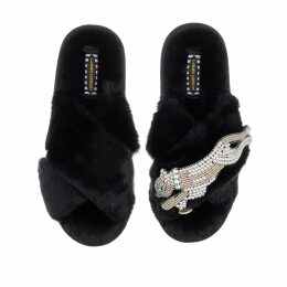 VEERO - Lou Lou Clutch Fuchsia Gold & Black Large