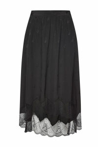 Zadig & Voltaire Joslin Silk Skirt with Lace