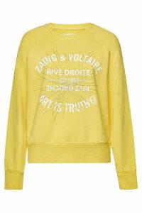 Zadig & Voltaire Printed Cotton Sweatshirt with Crystals