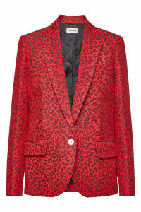Zadig & Voltaire Viking Printed Blazer with Cotton