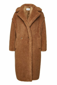 Max Mara Teddy Coat in Camel Wool and Silk