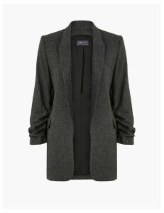 M&S Collection Herringbone Crepe Blazer
