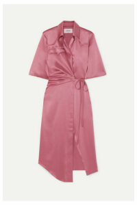 Nanushka - Lais Satin Wrap Dress - Magenta