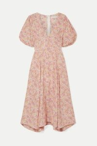Faithfull The Brand - Delia Floral-print Voile Midi Dress - Pink