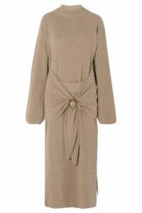 Nanushka - Mahali Ribbed-knit Maxi Dress - Tan