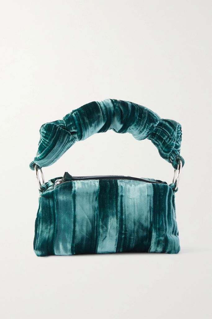 Alexander McQueen - Checked Bouclé-tweed Midi Skirt - Blue
