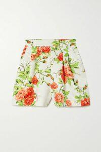 Charo Ruiz - Marilyn Crocheted Lace-paneled Cotton-blend Mini Dress - Coral