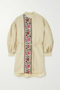 EVE Denim - Camille Gingham Cotton-voile Top - Light blue