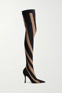 Caroline Constas - Mallory Asymmetric Floral-print Silk-chiffon Top - Blue