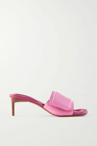 Charo Ruiz - Vaiana Crocheted Lace-paneled Cotton-blend Mini Dress - Coral