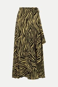 Faithfull The Brand - Jasper Zebra-print Crepon Wrap Skirt - Zebra print