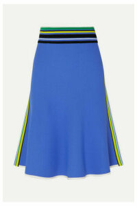Diane von Furstenberg - Roseha Striped Stretch-jersey Skirt - Blue