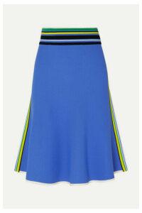 Diane von Furstenberg - Roseha Striped Stretch-jersey Skirt - Blue