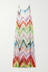 MATÉRIEL - Belted Tiered Jacquard Dress - small
