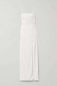 APIECE APART - Las Damas Pintucked Crinkled Cotton-gauze Blouse - Emerald