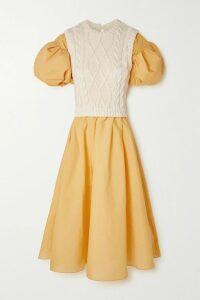 Saloni - Lea Floral-print Chiffon Wrap Mini Dress - Indigo