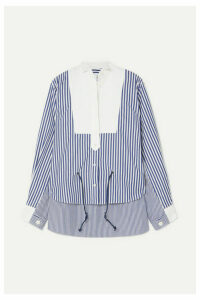 Sacai - Striped Cotton-poplin Shirt - Blue