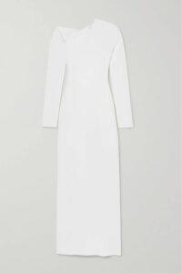 APIECE APART - Laguna Belted Striped Organic Cotton-voile Midi Dress - Sky blue
