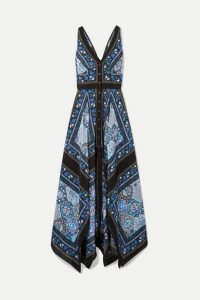 Altuzarra - Duel Printed Silk Crepe De Chine Maxi Dress - Black
