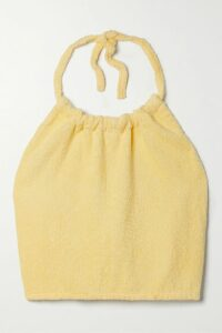 Oscar de la Renta - Draped Ruched Printed Silk-blend Lamé Gown - Green