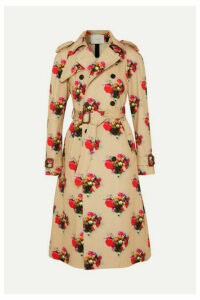 Adam Lippes - Floral-print Cotton-twill Trench Coat - Beige