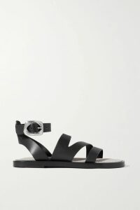 STAUD - Panier Asymmetric Ruched Gingham Stretch-seersucker Dress - Yellow