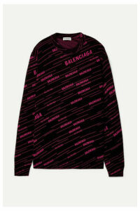 Balenciaga - Intarsia Wool-blend Sweater - Black